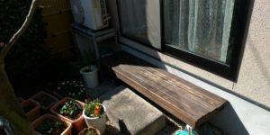 屋外ベンチの修理を致しました!