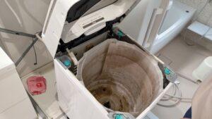 洗濯機のクリーニングを1年ぶりにしました!【広島市安佐南区】