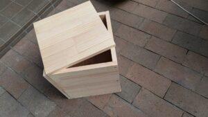 犬の納骨用の木箱を作成しました【広島市東区】